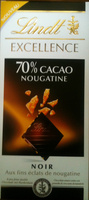 Excellence 70% cacao nougatine - Product - fr