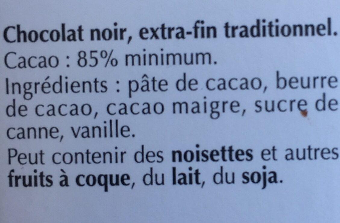 Excellence doux 85% cacao - Chocolat noir délicat - Zutaten - fr