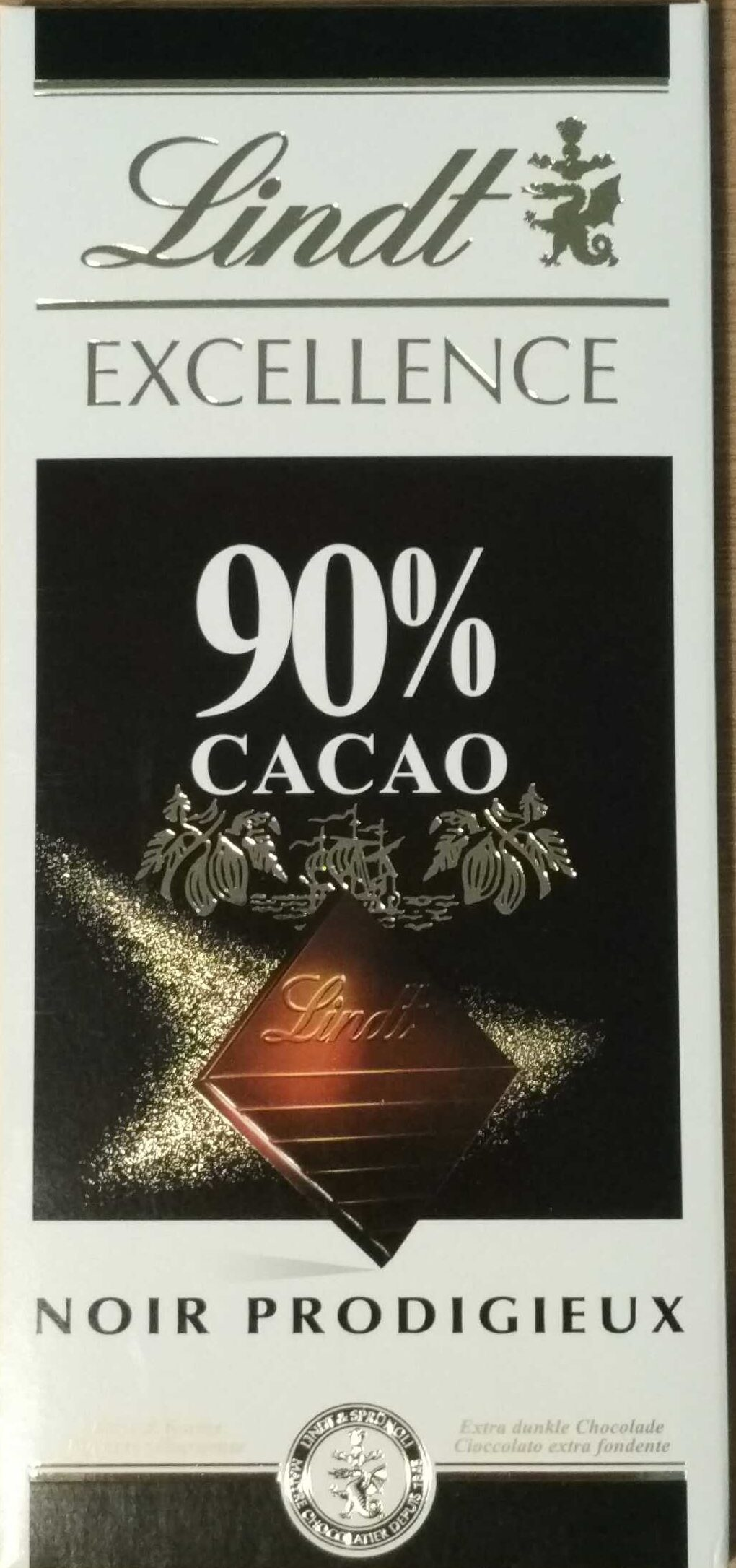 Dark Chocolate 90% cocoa - Produit - fr