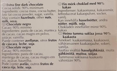 Noir prodigieux - Ingredientes - es
