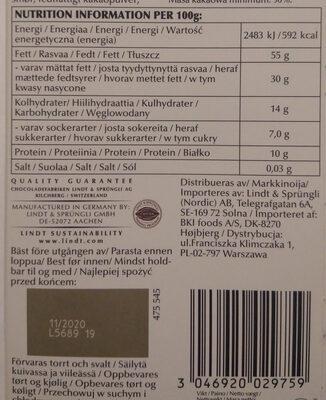 Dark Chocolate 90% cocoa - Ravintosisältö - fi