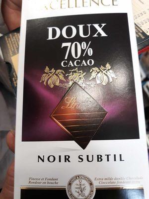 Lindt excellence Noir Subtil 70% - Producte