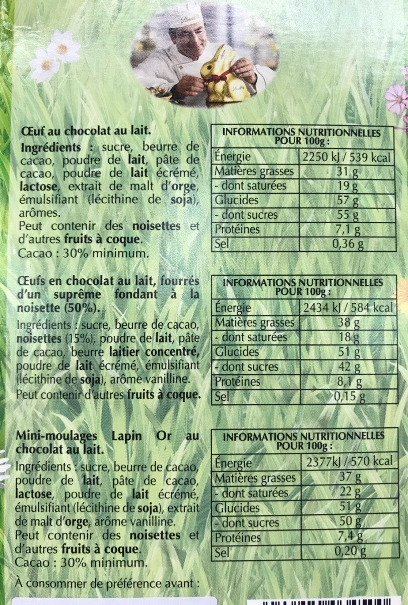 Lapin or - Nutrition facts - fr