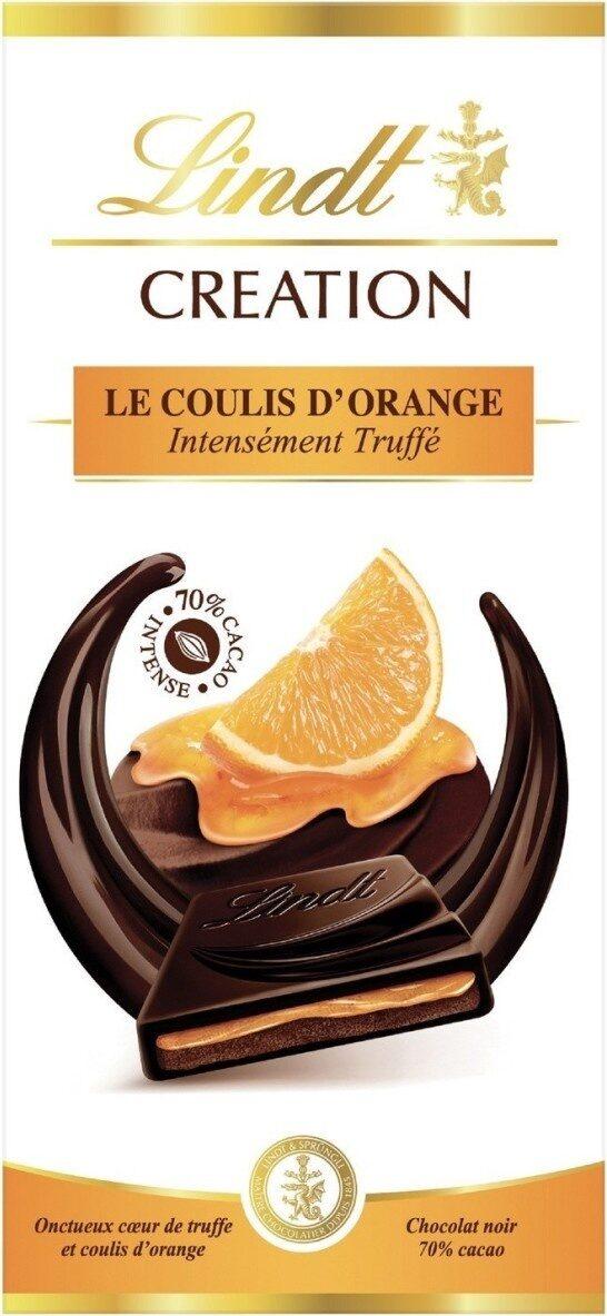 Tablette de chocolat - le coulis d'orange - Produit - fr
