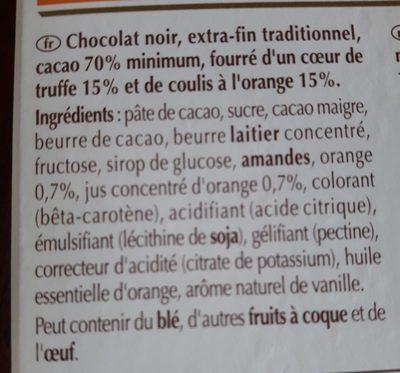 Tablette de chocolat - le coulis d'orange - Ingrédients - fr