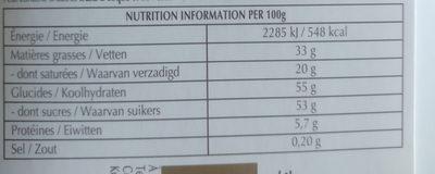 CRÉATION Le coulis d'orange - Nutrition facts