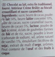 Creation, la crème brûlée - Ingrédients