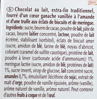 Creation Les Macarons Vanille - Ingrédients - fr