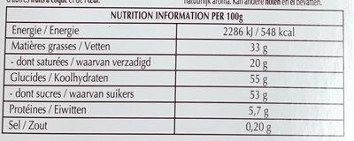 Creation Les Macarons Vanille - Informations nutritionnelles - fr