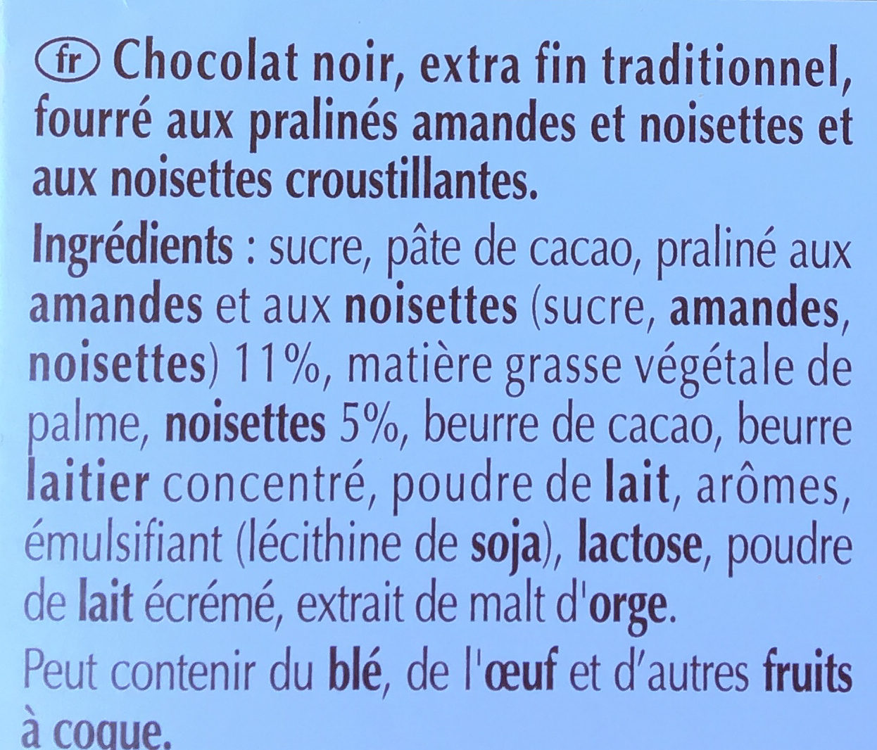 Le rocher noir - Ingredients - fr