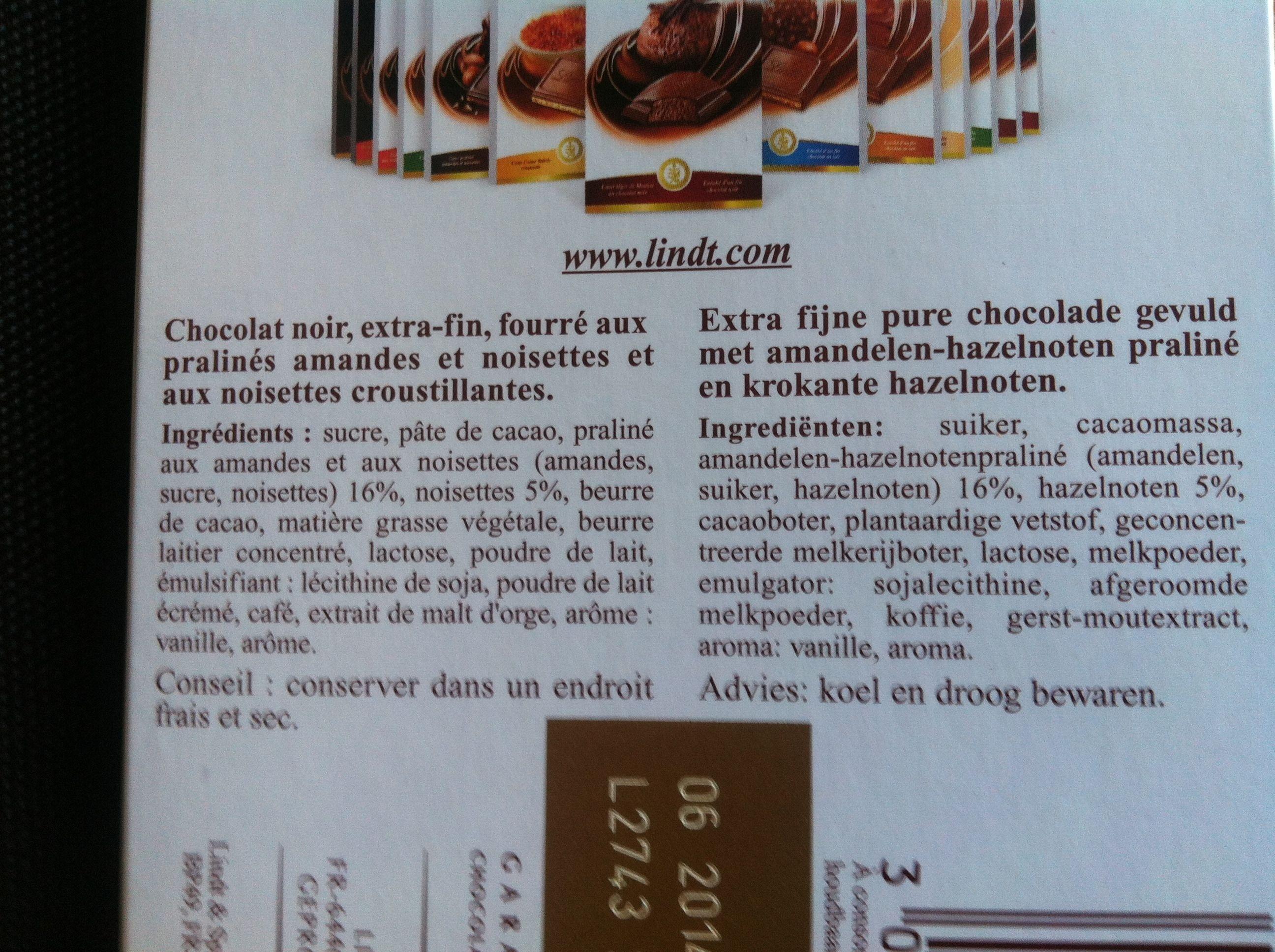Création Rocher Noir Intensément Croquant - Ingredients - fr