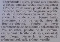 Spéculoos Coeur Praliné Croustillant - Ingrédients - fr