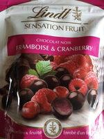 Sensation Fruit Chocolat Noir Framboise & Cranberry - Prodotto - it