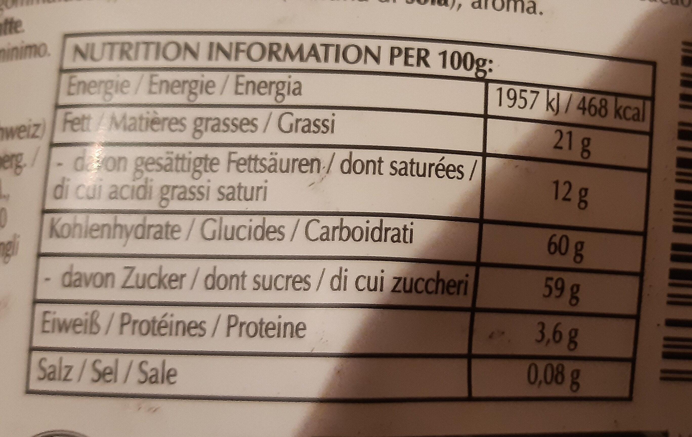Sensation Fruit Chocolat Noir Framboise & Cranberry - Valori nutrizionali - it