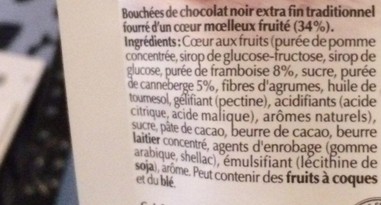Sensation Fruit Framboise & Cranberry 65 g - Ingrediënten