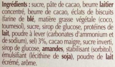 La tarte chocolat - Ingredients - fr
