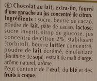 Creation Refreshing Lemon Milk - Ingredients - fr