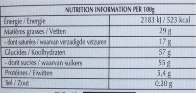 Creation Refreshing Lemon Milk - Nutrition facts - fr