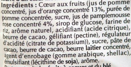 Sensation Fruit Orange Pamplemousse Rose - Ingrediënten - fr