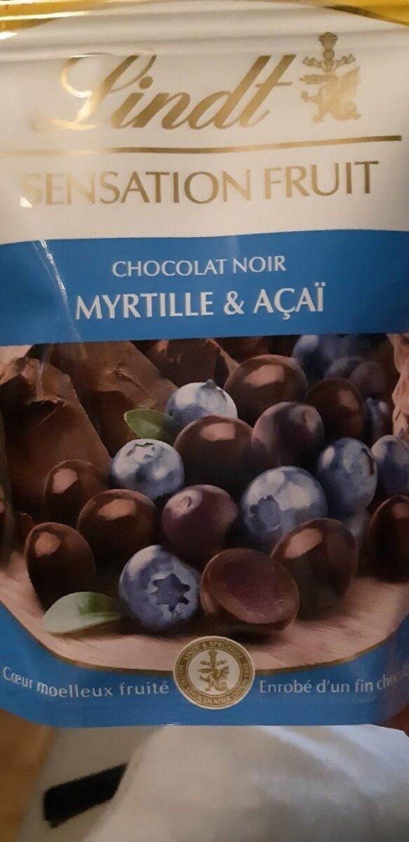 Lindt sensation fruit myrtilles & acai - Produit