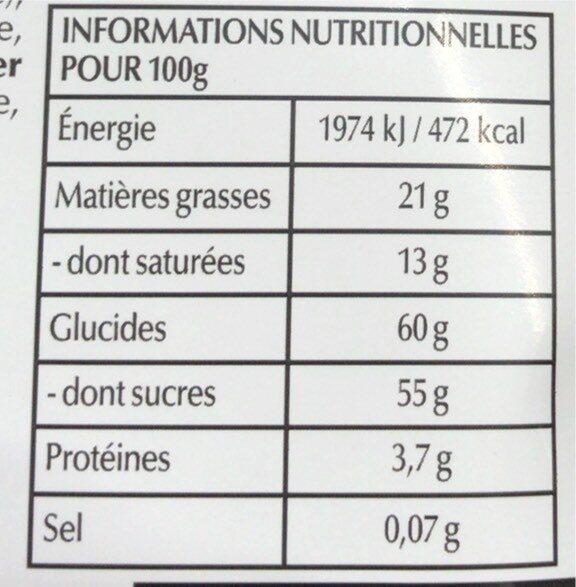 Sensation fruit - Chocolat noir myrtille et açaï - Valori nutrizionali - fr