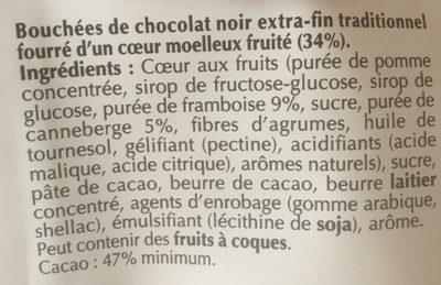 sensation fruit - Ingrédients - fr