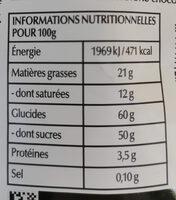 sensation fruit - Informations nutritionnelles - fr