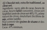 Excellence Zeste de Citron Vert - Ingredients - fr