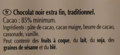 Excellence 85% Cacao Noir Puissant (offre gourmet) - Ingredients