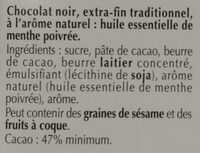 Excellence Menthe Intense - Ingredients - fr