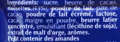 Chocolat - Ingredienti - fr