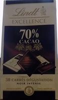 30 carrés dégustation Noir intense - Produit