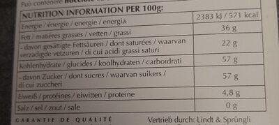 Extra velouté blanc - Informations nutritionnelles - fr