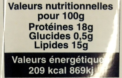 Corned-beef dans sa gelée - Nutrition facts