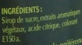 Apéritif Gambetta - Ingredients