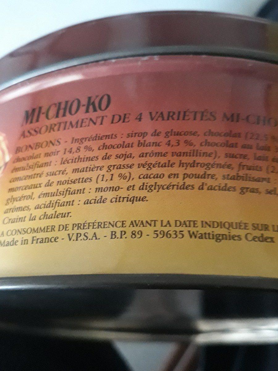 MI-CHO-KO - Ingrediënten