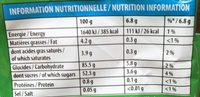Carambar goûts fruits - Informations nutritionnelles
