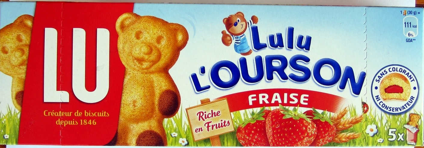 Lulu l'ourson fraise - Product