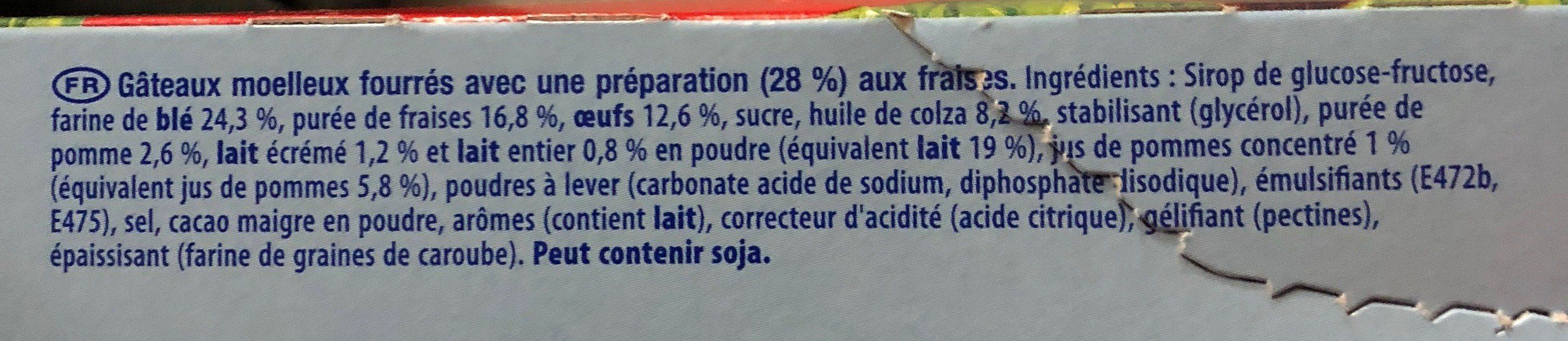 Lulu l'ourson fraise - Ingredients
