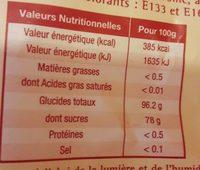 Bêtises de Cambrai - Informations nutritionnelles - fr