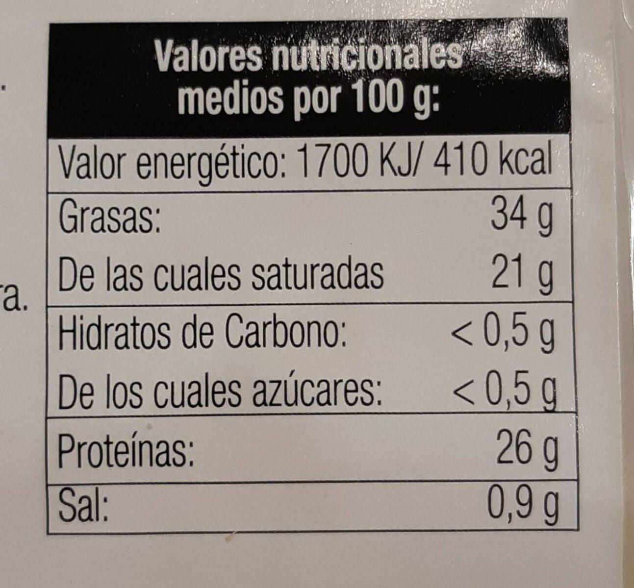 Queso Le Saint Mont Des Alpes - Nutrition facts - es