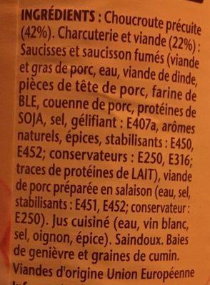 La Choucroute Garnie - Ingredients
