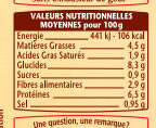 La Cassolette de Bœuf - Nutrition facts