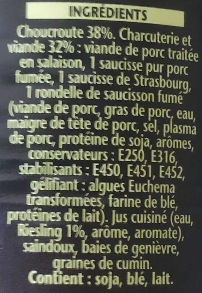 Choucroute Royale, Au Riesling d'Alsace - Ingredients - fr