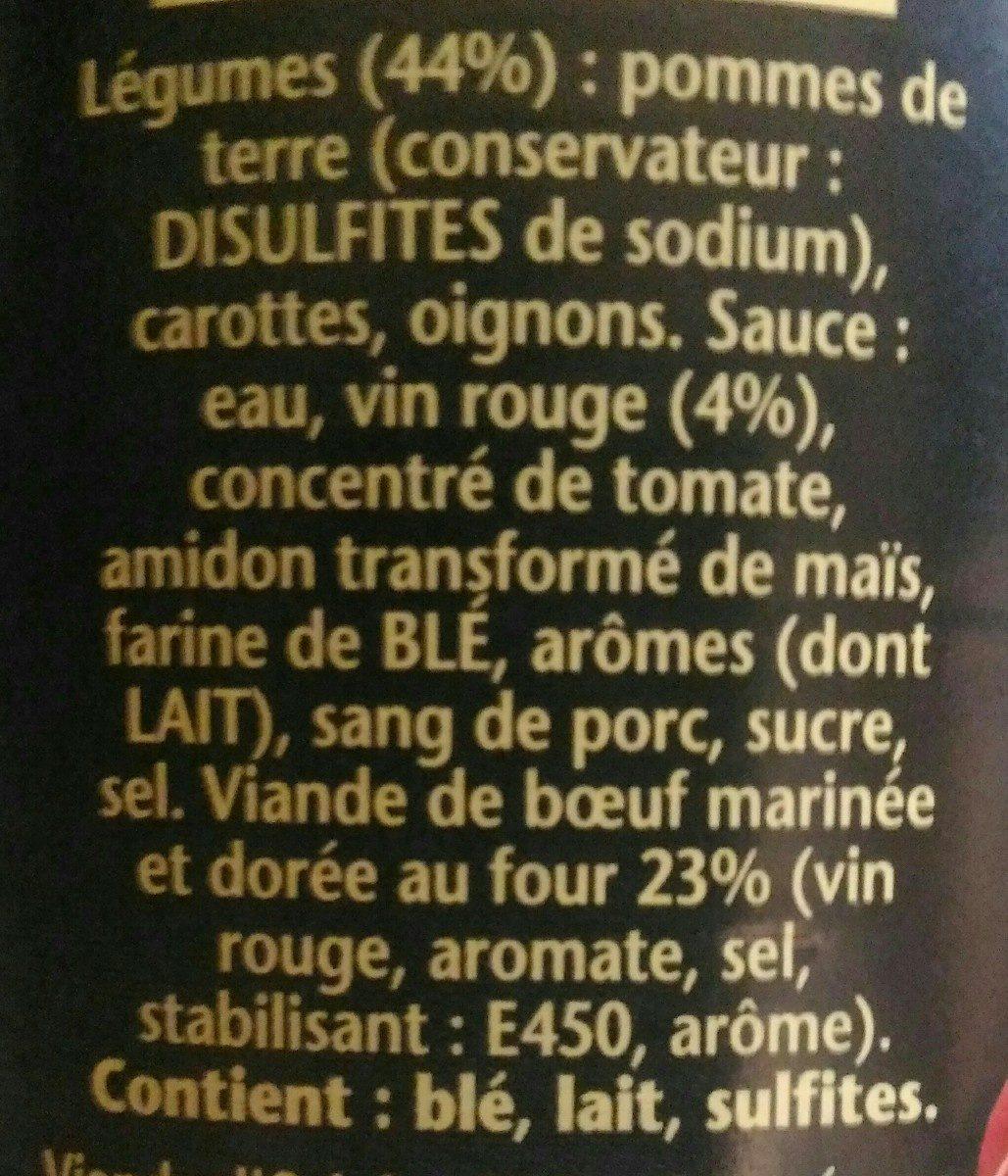 1898 Boeuf Bourguignon - Ingrédients