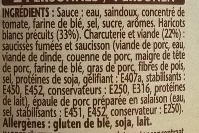 Le Cassoulet - Ingrediënten