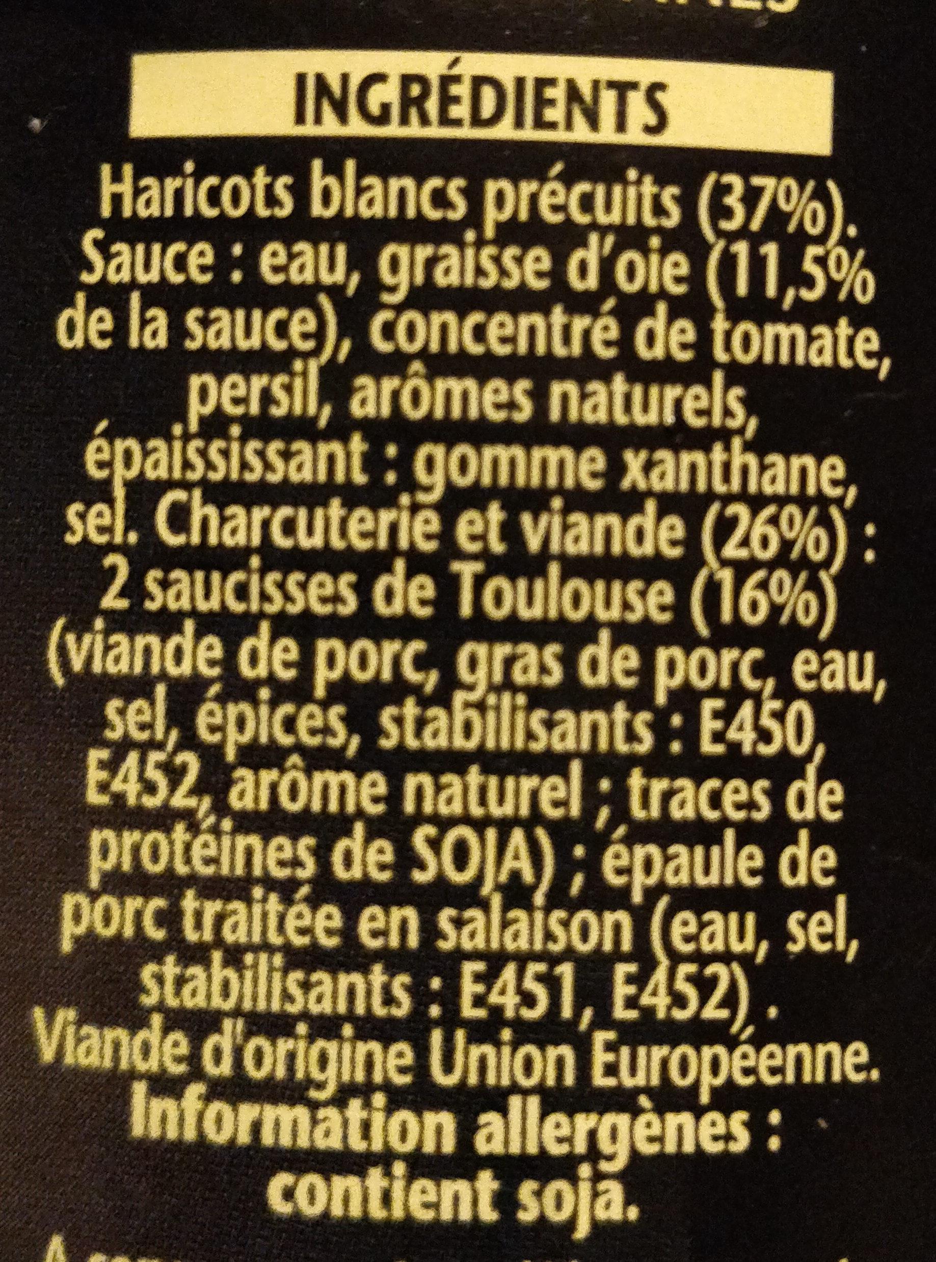 Cassoulet toulousain à la graisse d'oie - Ingrédients - fr