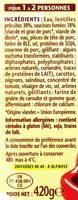 Saucisse lentilles 1/2 - Ingredienti - fr