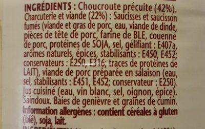 Choucroute - Ingrediënten - fr