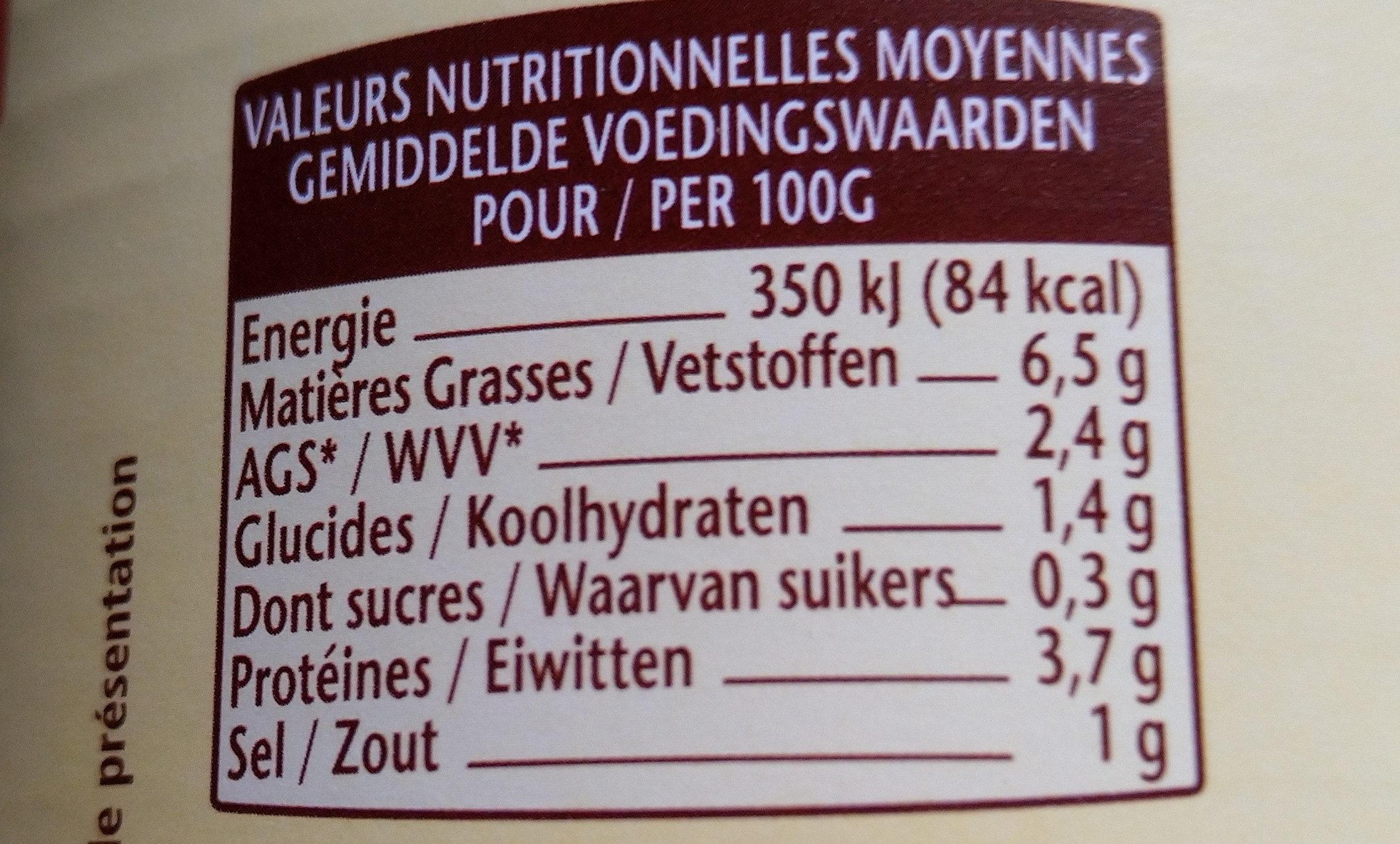Choucroute - Voedingswaarden - fr